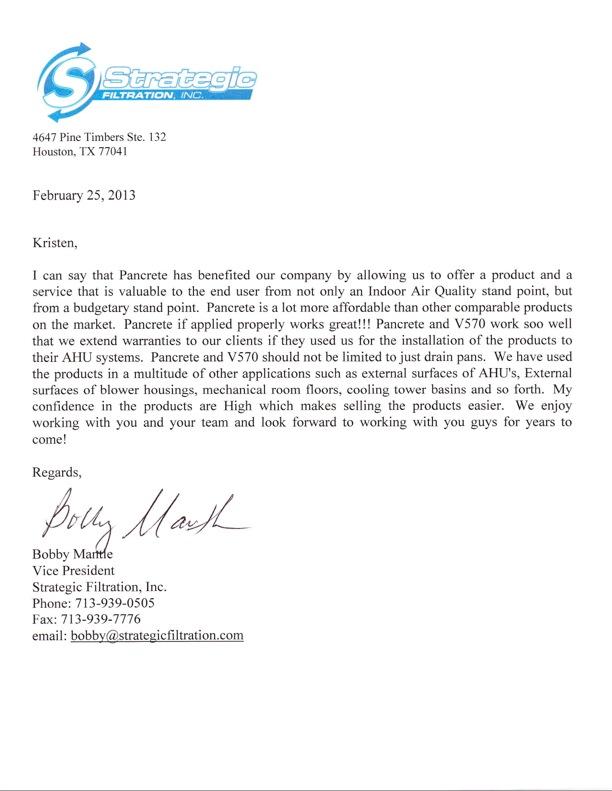 Strategic V570 & PC Rec. Letter