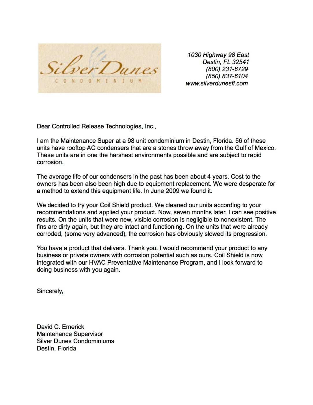 Silver Dunes Condominiums Recommendation